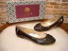 Isola Britt II Brown Leopard Patent Leather Ballet Flats NEW