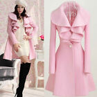 Fashion Slim Womens WOOL Warm Long Coat Jacket Trench Windbreaker Parka Outwear