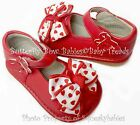 Girls Squeaky Shoes RED Unique ADD-A-BOW Design Valentine Bows with Red Hearts
