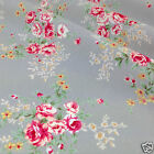 PER FQ/1/2 metre Silver/grey posy floral dressmaking/craft fabric 100 % cotton
