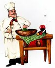 "6-9.5"" FAT ITALIAN CHEF KITCHEN WALL SAFE STICKER CHARACTER BORDER CUTOUT"