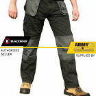 Blackrock Baratec Work Wear Trousers Multi Pocket Trade Pro Pants Triple Stitch