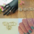 2 Pairs Lady Women Wedding Ring Stainless Steel Silver Gold 4 Rings Gift New
