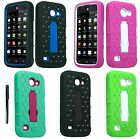 For Huawei Tribute Fusion 3 AT&T Diamond Heavy Duty Stand Cover Case FREE Stylus