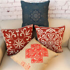 "Chinese Knot Style Office Decor Throw Pillow Case Cushion Cover Square 18"" Linen"