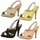 Anne Michelle F10411 Ladies Sling Back Strap Heeled Sandals
