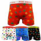 Mens Cannabis Weed Boxer Trunks Novelty Funny Boxer Shorts 6 12 Pairs Dozen