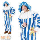 Andy Pandy + Hat Mens Fancy Dress Retro TV Character Adults Costume Outfit New