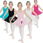 Girls Kid Dance Dress Ballet Tutu Leotard Skate Skirt Dancewear Clothing SZ 2-14