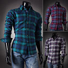 Men's Flannel Lumberjack Check 100% Cotton Casual Work Shirts UK Size S-XL