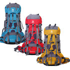 New Heavy Duty Hiking Camping Travel Backpack Shoulders Bag High Quality 70L+5L