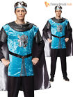 Adult Mens Medieval Royal Knight Costume Tudor King Historical  Fancy Dress
