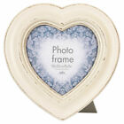 CASA HEART SHAPED PHOTO FRAME - VINTAGE WOODEN PICTURE DECOR - STANDING HANGING