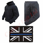 Black Tactical Recon Hoodie With Thin Blue Line Union Jack Fleece Jacket Police