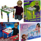 BRAND NEW FROZEN SPIDERMAN TMNT CHILDS PLASTIC COLOURING TABLE WITH STATIONARY