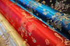 CHINESE BROCADE FABRIC - DRAGON DESIGN - 100% POLYESTER - WIDTH 92CM