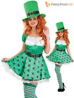 Ladies Lucky Leprechaun Sexy Irish St Patricks Paddys Day Fancy Dress Costume
