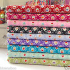 per 1/2 Mtr/fat quarter DARLING floral fabric 100% cotton dressmaking craft