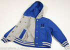 Tommy Hilfiger Boys Reversible Blue & Gray Full Zip Hooded Varsity Jacket