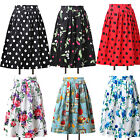Vintage Floral Style 60's 20's ROCKABILLY Mini Evening Casual Party Prom Dresses