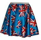 Child's toddlers Great Britain Union Jack British Flag Roller Girl Skater Skirt