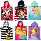 NEW CARTOON CHARACTER CHILDRENS KIDS HOODED PONCHO BEACH BATH GIRLS BOYS TOWEL