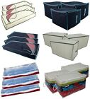 Pack of 3 Underbed & Jumbo Storage Chest Bags - Bedding Storage Clothing Chests