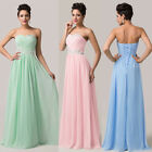 FREE P&P Chiffon Maxi Long Cocktail Evening Wedding Prom Party Gown Formal Dress