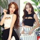 Women Sexy Keyhole Vest T-Shirt Tee Club Sleeveless Hollow Out Blouse Crop Top