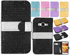 For Samsung Galaxy Core Prime Bling Diamond Wallet Case Flip Pouch Phone Cover