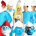 The Smurfs Adults Fancy Dress Smurfette Cartoon 60s Masks Mens Ladies Costumes