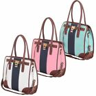 Ladies Womens Designer Style Shoulder Satchel School Padlock School Hobo Handbag