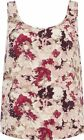 Ladies Pink Floral Vest Top Ex High Street Stock