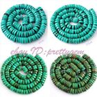 "Natural Button Turquoise Gemstone For Jewelry Making Spacer Beads 15"",Pick Size"