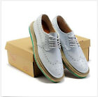 Gothnic Dress Formal Mens Patent Leather Punk Lace up Oxford Creeper Flat Shoes