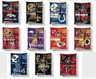 "NEW NFL 60"" x 80"" ""Mink"" Sherpa Throw Blankets Free Shipping $43.95 USD on eBay"