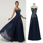 Peacock Homecoming Sexy Long Formal Chiffon Evening Cocktail Maxi Prom Dress NEW