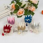 Baby Girls Lace Crown Style Shiny Imitation Pearls Cute Hair Clip Hair Accessory