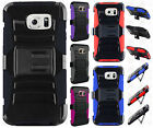 Samsung Galaxy S6 Combo Holster HYBRID KICK STAND Hard Rubber Case Phone Cover
