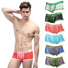 2015 Men's Bulge Fish Net Boxer Nightwear Trunks Underwear Brief Underpants S-XL