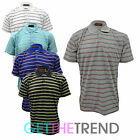 Mens New Stripe Polo Tshirt Mens Striped Button Collar Tee Shirt Mens Summer Top
