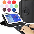 PU Leather Folio Stand Case w / Bluetooth Keyboard for RCA 7 inch Voyage 7 Tablet
