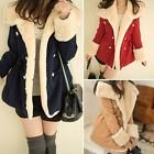 Winter Fashion Warm Double-Breasted Wool Blend Jacket Women Girl Coat Thrifty