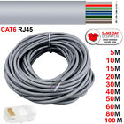 Cat6 RJ45 Premium Quality Network Ethernet ADSL PC Patch Cable 30 40 60 80 M Lot