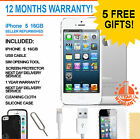 Apple iPhone 5 16 GB White / Silver (Factory Unlocked) Smartphone Grade A
