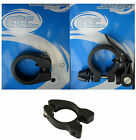 ETC Bike Seat Clamp Black Alloy - Standard - Quick Release - Carrier Mount Holes