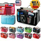 Women Lady Travel Insert Handbag Organiser Purse Large Liner Organizer Tidy Bag image