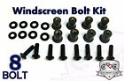 Motorcycle Windscreen Bolt Kit Windshield Stainless Steel Black 1 6 8 10 Pack