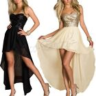 Sexy Women Sequins Long Formal Gown Prom Cocktail Evening Bridesmaid Dress S-XXL