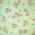 "per 1/2 metre/ FQ 100 % cotton GUESS HOW MUCH I LOVE YOU bunny / Mint 44"" wide"